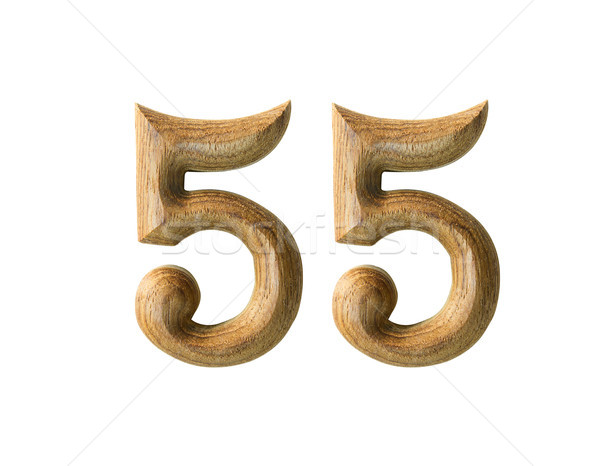 Wooden numeric 55 Stock photo © stoonn