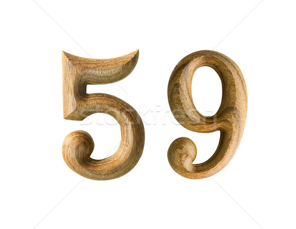Wooden numeric 59 Stock photo © stoonn