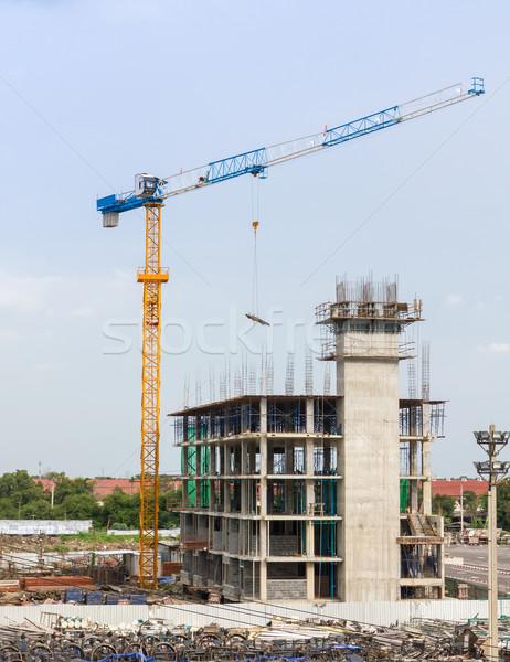 Building site and Construction cranes Stock photo © stoonn