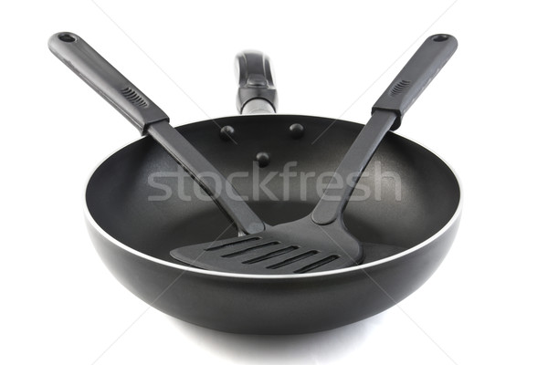 Pan with handle and Spade of frying pan  Stock photo © stoonn