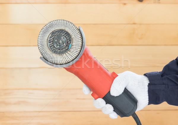 Zag schijf hand handschoen Stockfoto © stoonn