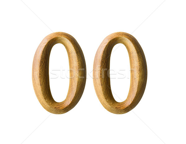 Wooden numeric 00 Stock photo © stoonn