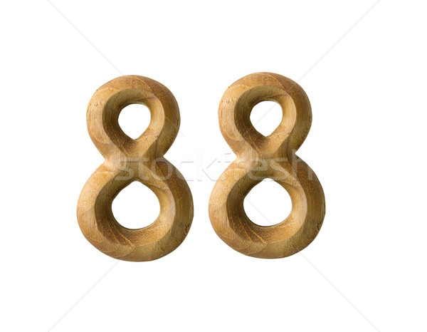Wooden numeric 88 Stock photo © stoonn