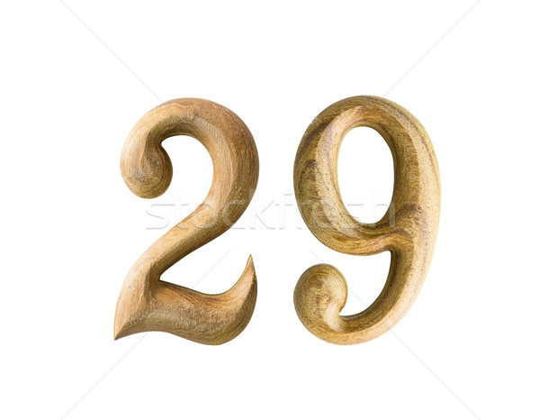 Wooden numeric 29 Stock photo © stoonn