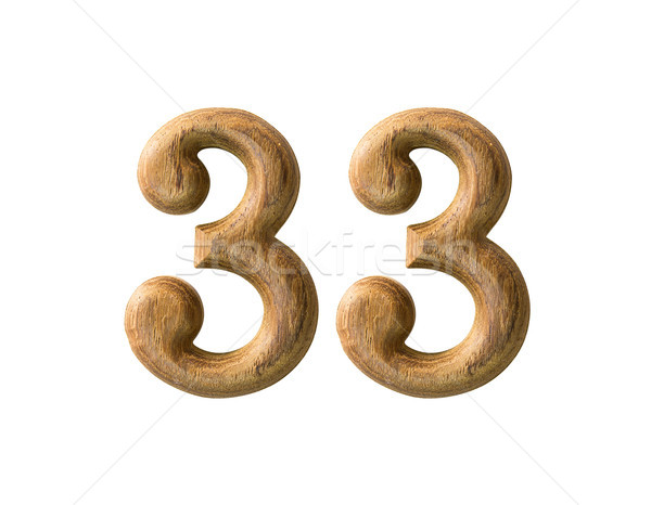 Wooden numeric 33 Stock photo © stoonn