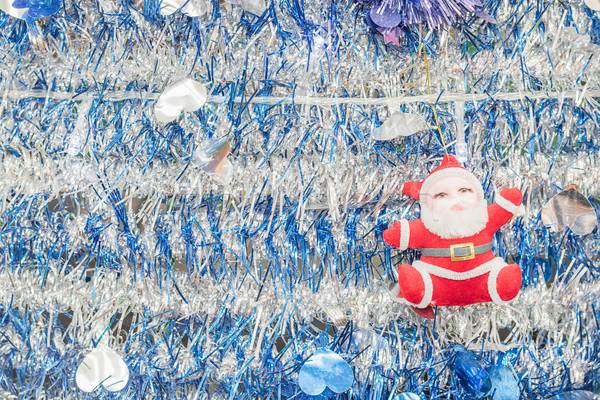 Santa Claus on tinsel  background Stock photo © stoonn