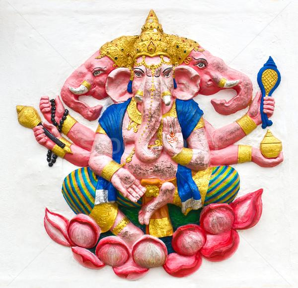 God tempel Thailand kunst Rood aanbidden Stockfoto © stoonn