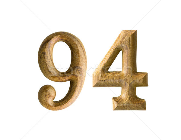 Wooden numeric 94 Stock photo © stoonn