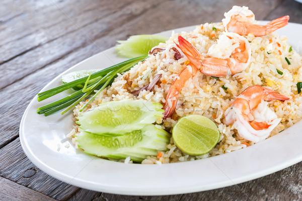 Fried rice with shrimp Stock photo © stoonn
