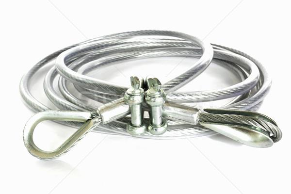 Kötél csúzli használt fehér szerszám Stock fotó © stoonn