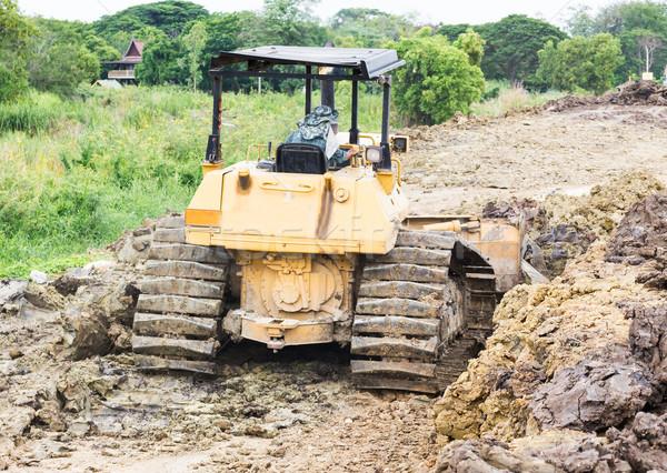 Escavadeira construção trabalhar terra indústria Foto stock © stoonn