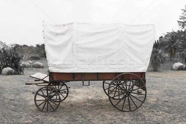 Black & White Covered wagon  Stock photo © stoonn