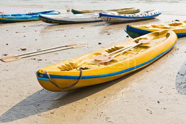Old Colourful kayaks  Stock photo © stoonn