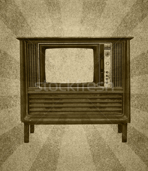 Vintage televisión grunge papel resumen sol Foto stock © stoonn