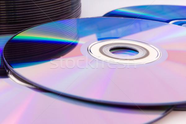 Closeup compact discs Stock photo © stoonn