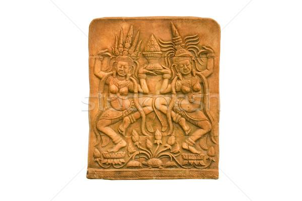 Sandstone carvings two woman dancing Stock photo © stoonn