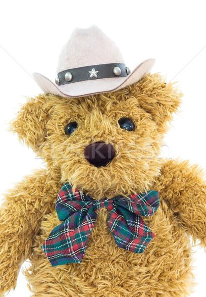 Close up cowboy teddy bear on white  Stock photo © stoonn