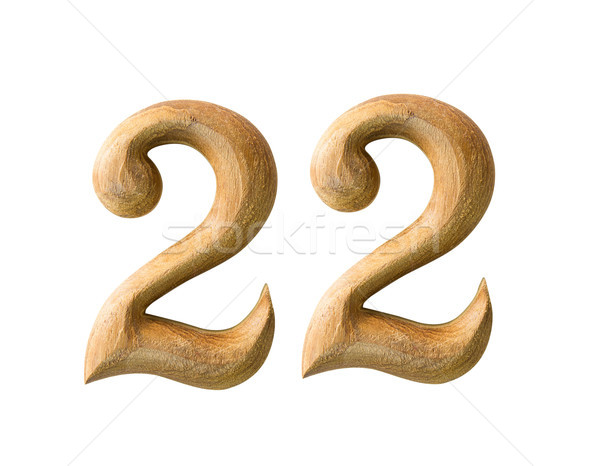 Wooden numeric 22 Stock photo © stoonn