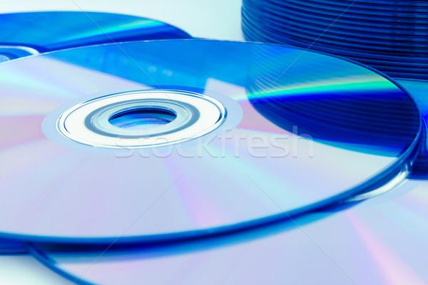 Closeup compact discs (CD/DVD) Stock photo © stoonn