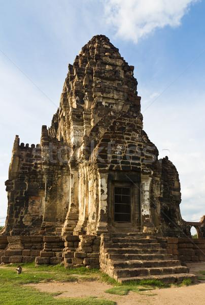 Tempel hemel gebouw landschap reizen baksteen Stockfoto © stoonn