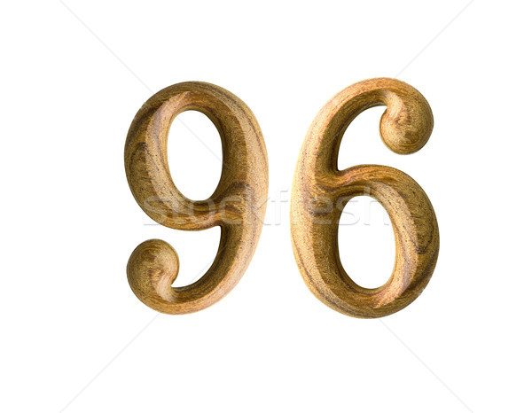 Wooden numeric 96 Stock photo © stoonn