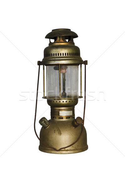 Antik hurrikán lámpa izolált vágási körvonal tűz Stock fotó © stoonn