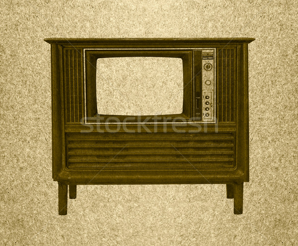 Vintage television Stock photo © stoonn