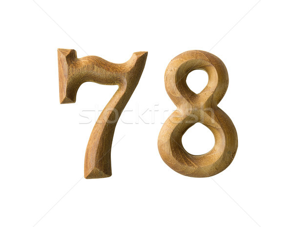 Wooden numeric 78 Stock photo © stoonn