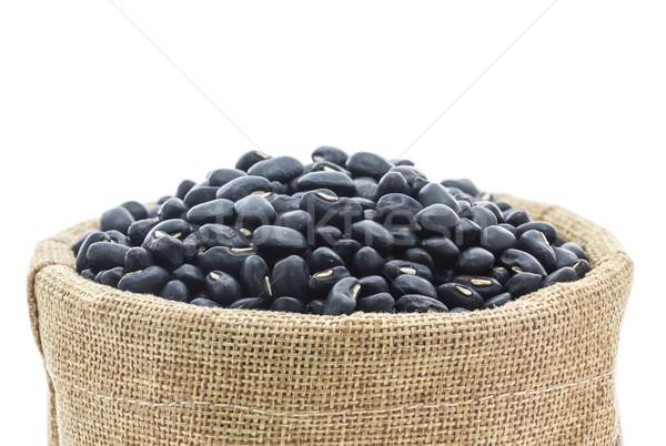 Dried black beans in Sacks fodder Stock photo © stoonn