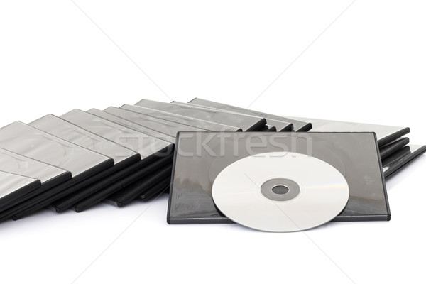 DVD box with disc on white background Stock photo © stoonn