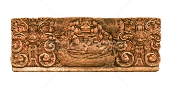 Homokkő király ágy hát sárkány öreg Stock fotó © stoonn