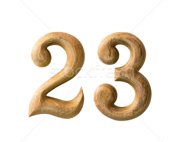 Wooden numeric 23 Stock photo © stoonn