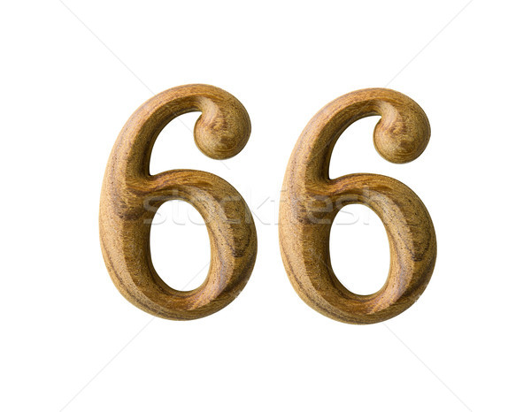 Wooden numeric 66 Stock photo © stoonn