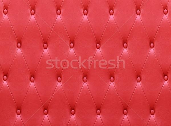 Luksusowy czerwony skóry siedziba tapicerka ściany Zdjęcia stock © stoonn