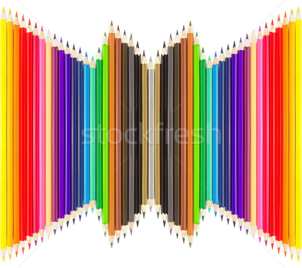 Colored pencils in rows  Stock photo © stoonn
