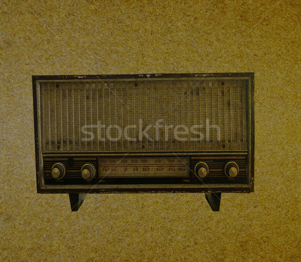Radio retro Stock photo © stoonn