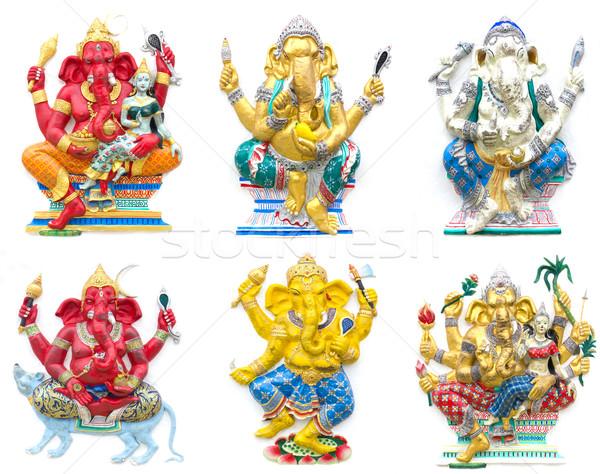 God tempel Thailand kunst olifant kroon Stockfoto © stoonn