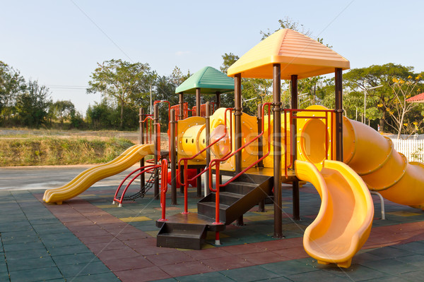 Children playground in park Stock photo © stoonn