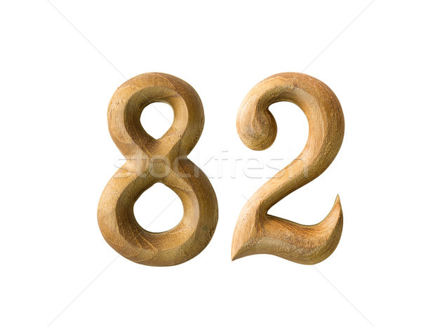 Wooden numeric 82 Stock photo © stoonn