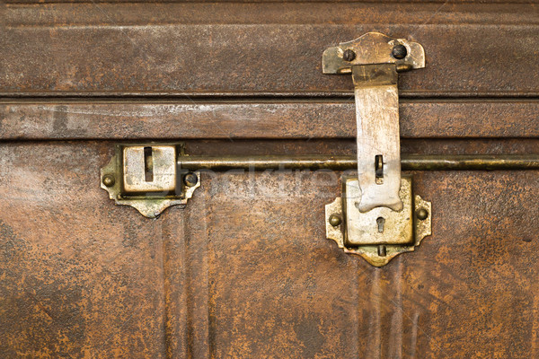 Lock of an old metal casket close up Stock photo © stoonn
