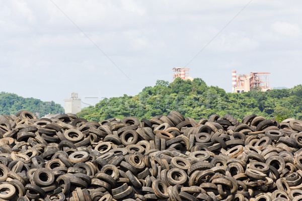 Oude banden hoop recycling plant Thailand Stockfoto © stoonn