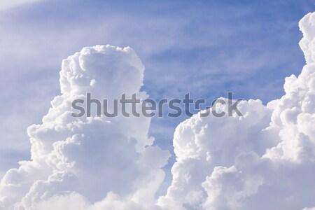 Wolken blauwe hemel regen textuur landschap Stockfoto © stoonn