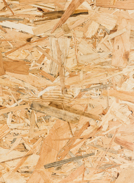 Stock photo: Close up texture of oriented strand board (OSB)