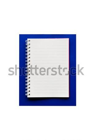 Briefpapier blau Zwischenablage Hintergrund Bildung Karte Stock foto © stoonn