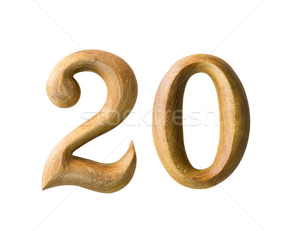 Wooden numeric 20 Stock photo © stoonn