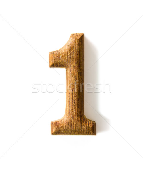 Wooden numeric 1 Stock photo © stoonn