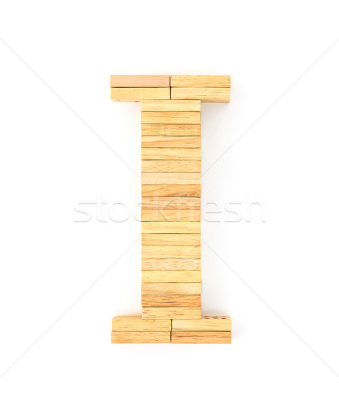 Houten domino Engels alfabet brieven witte Stockfoto © stoonn