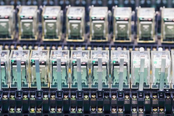 Close up row of Relay actuators Stock photo © stoonn