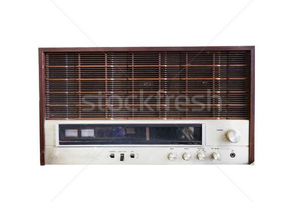Stock photo: Old radio isolated on white
