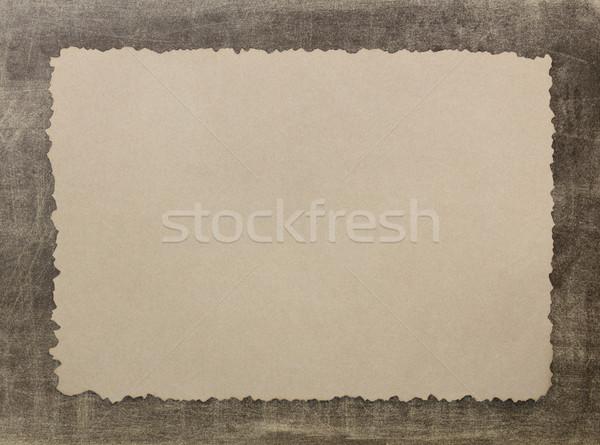 Vintage grunge burnt paper2 Stock photo © stoonn